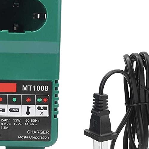 Yuyanshop Drill Battery Charger, Long Service Life Small in Size Light in Weight Multi-Level Protection Battery Charger, for 7.2/9.6/12/14.4/18V Electric Drill Battery