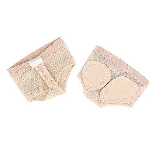 Blantye 1 Paire Pied String Orteil Patte Pad Ballet Danse Avant-Pied Demi Chaussures de Protection(XL)