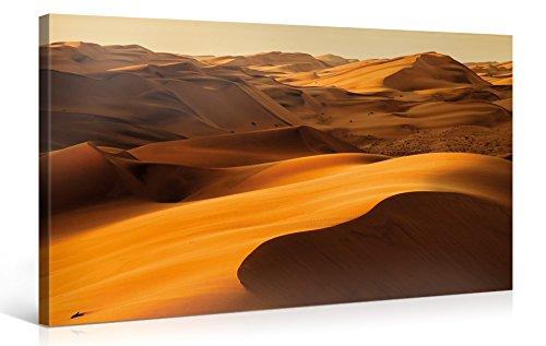 Gallery of Innovative Art – Sandy Landscape – 100x50cm – Larga Stampa su Tela per Decorazione murale – Immagine su Tela su Telaio in Legno – Stampa su Tela Giclée – Arazzo Decorazione murale