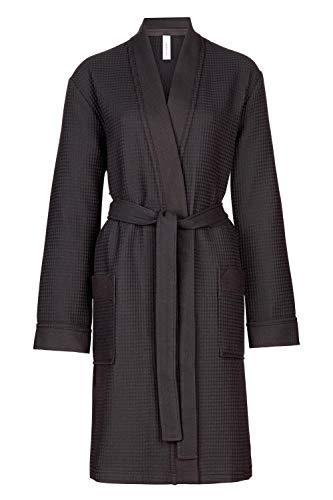 Taubert Spa Thalasso Short Kimono kurzer Bademantel 100 cm Pique S Anthrazit
