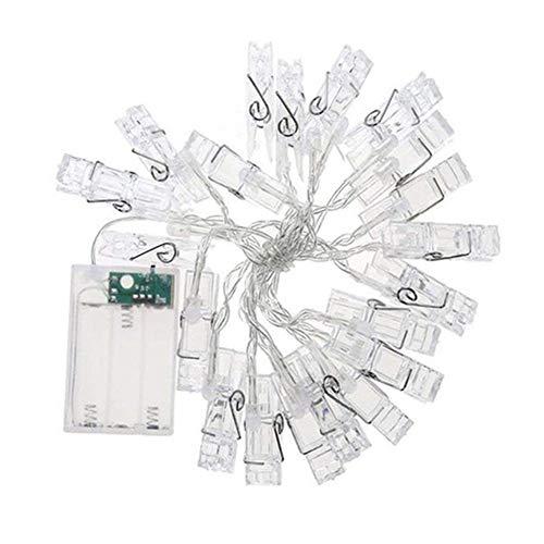 AMOYER Foto Clip Lichterketten LED-Fee-Schnur-Lichter Für Hängende Bilder Dorm Schlafzimmer Wand Hochzeit Dekorationen (20 Lichter Länge 300cm)