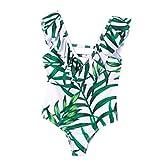 Amlaiworld Traje de baño para niñas Verano Bikinis de baño con Estampado de Hojas para bebésTraje de baño de una Pieza Traje de baño Ropa de Playa 2-7 años