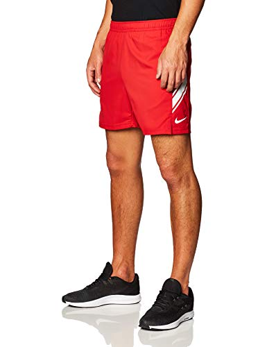 NIKE NikeCourt Dri-Fit Tennis Shorts, Rojo Gimnasio/Blanco, S Mens