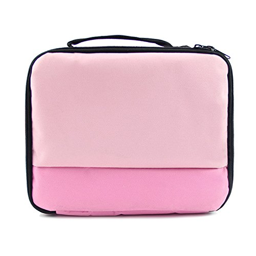 Vococal Universal Tragbare Reise Carry Storage Protector Tasche Schutz Handtasche Fall für Canon Selphy CP1200 CP910 HITI Prinhome P310W Foto Drucker Rosa