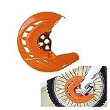 Gzcfesbn Protector de Cubierta de la Cubierta del Freno Trasero Delantero de la Motocicleta para KTM 125 200 250 300 350 450 500 530 SX SXF XC XCF EXCX 2003-2014 Durable (Color : Front)