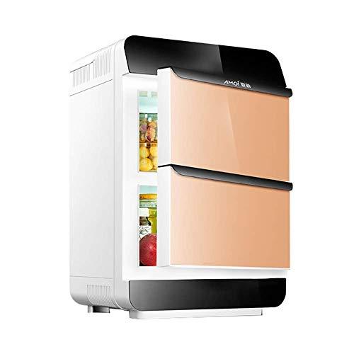 LXYZ Refrigerador de Coche de Doble núcleo de 25L Refrigerador Compacto/Calentador de Coche y hogar Mini Nevera electrónica de Doble Puerta