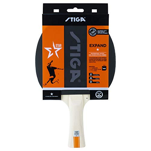 Stiga 1-Star Expand Palas de Ping Pong, Unisex-Adult, Black/Red, One Size