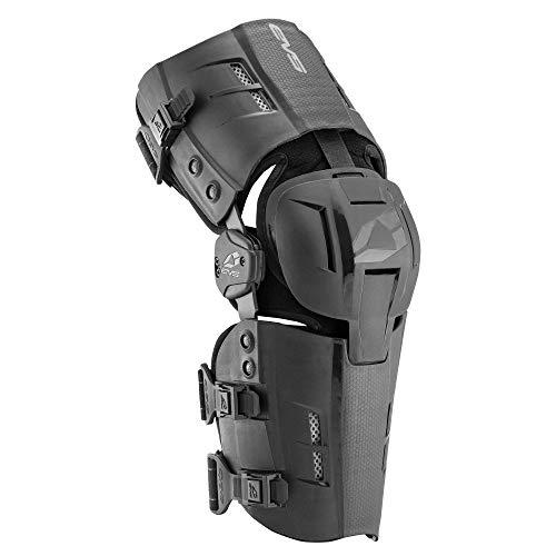 EVS Sports Unisex-Adult RS9 Knee Brace-Single (Black, Large-Left)