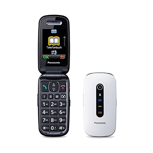 Panasonic KX-TU456 Cellulare Facilitato, Ampio Display a Colori, Tasti Grandi, Chiamate Prioritarie in Vivavoce, Bluetooth e Fotocamera, Compatibile con Apparecchi Acustici, Bianco