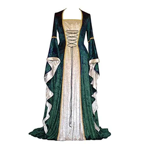 Cosplay Palace Halloween, middeleeuwse jurk, cosplay, edele lange robben, oude bel, pantalon, kostuum, jurk voor vrouwen