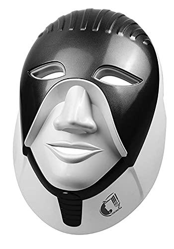 Máscara LED, Máscara de fotones LED de 7 Colores, Máscara LED de Terapia de luz, Máscara Facial LED Terapia de luz Azul roja Máscara de fotones de Belleza de 7 Colores, Negro