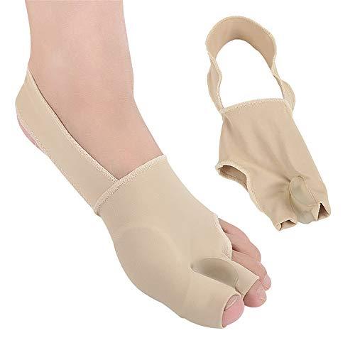 Corrector ortopédico de juanetes - Cómoda Cubierta Transpirable de Doble Dedo del pie, Plantilla de Apoyo para la Bola del pie, Fascitis Plantar y Neuroma Corrección del pie Grande 2 Piezas (L)