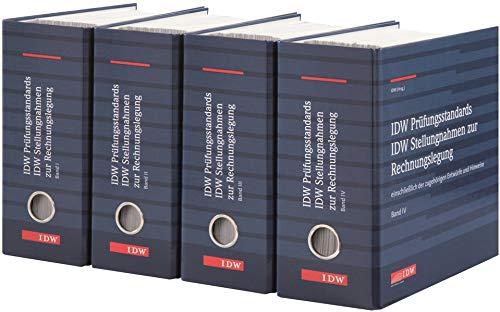 IDW Verlautbarungen, Grundwerk, 4 Ordner Fortsetzung: IDW PS, IDW RS, IDW S, Loseblattausgabe, Grundwerk in 4 Ordnern (Abonnement-Bezug). Stand: 72. Ergänzungslieferung