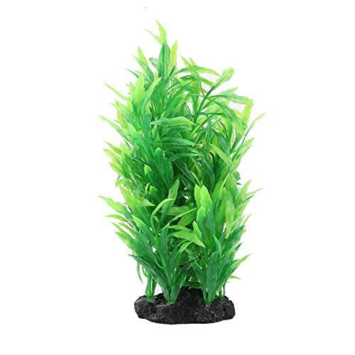 Hffheer Grüne künstliche Aquariumdekorationspflanzen Wasserpflanzen Aqua Bouquet Plant Kunststoff Aquatic Decoration Plant für die Unterwasseraquarium-Landschaftsgestaltung