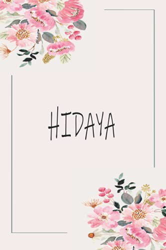 HIDAYA: Personalized name Notebook HIDAYA | HIDAYA Monogram Notebook | Personalized writing journal | Great Gift Diary for Women and Girls, Staff ... 110 Lined Pages Personalized Notebook