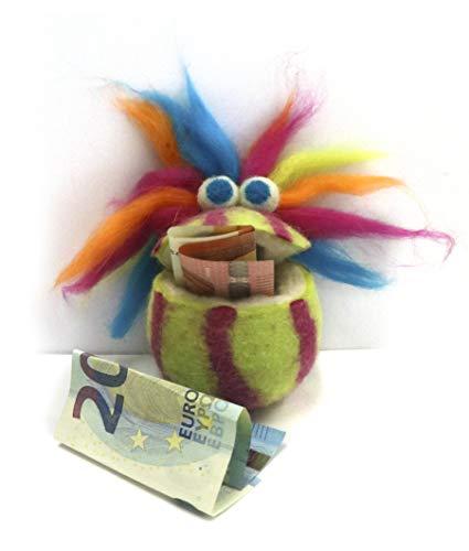 Unbekannt 1 Geldgeschenk Wuschel Das Geldmonsterchen für Geld- & Gutscheine ca 7 x 9 cm Sortierte Lieferung