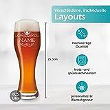 polar-effekt Leonardo Weizenbierglas 0,5l mit Gravur personalisierte Weizenglas Geschenk-Idee – Bierglas für Männer und Frauen zum Geburtstag – Motiv Ornament - 5