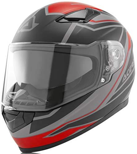 Acerbis Full Face X-Street - Casco taglia L, colore: Rosso/Nero
