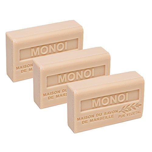 Französische Seife, 3 x 125 g - Monoi - Sheabutter - La Maison du Savon von Marseille