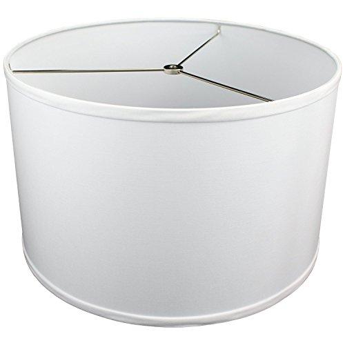 FenchelShades.com 16' Top Diameter x 16' Bottom Diameter 10' Height Lampshade USA Made (White)