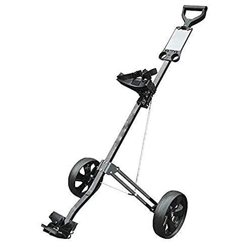 Golftrolley Golfwagen 2 Räder Push-Pull-Golf Cart Trolley, kleinste Klapp-Leicht Golf Rollwagen for Outdoor-Reisen Sport Fitnesstraining Flughafen Gepäck prüfen Trägerwagen