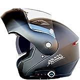 OYHN Casco de Moto Casco Moto Modular con Bluetooth Integrado Motocicleta Cara Completa Visera abatible Casco,5,XXL