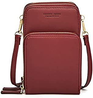 """BTS-UAE Small Leather Crossbody Phone Bags for Women with Card Slots, 6.5"""" Cell Phone Purse Wallet Shoulder Bags for Travel by"""