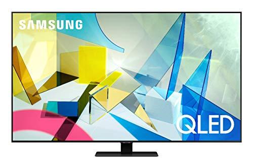 Samsung TV QE75Q80TATXZT Serie Q80T QLED Smart TV 75 , con Alexa integrata, Ultra HD 4K, Wi-Fi, Silver, 2020
