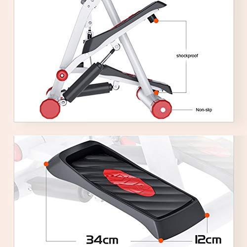 Tensism Foldable Stepper,Adjustable Armrest Stepper,Multi-Function Stepper,Sports Weight-Loss Hydraulic Stepper,Fitness Equipment B 4