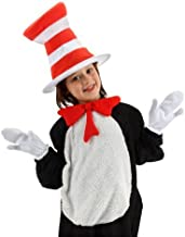 Elope Dr. Seuss Cat in The Hat Costume Accessories for Kids Red
