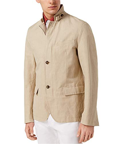 Michael Kors Mens Hybrid Two Button Blazer Jacket, Beige, XX-Large