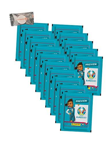 .Panini - Euro 2020 Sticker Preview - Sammelsticker - 15 Tüten + stickermarkt24de Gum