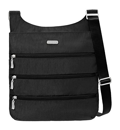 Baggallini Big Zipper Travel Crossbody Bag, Black, One Size