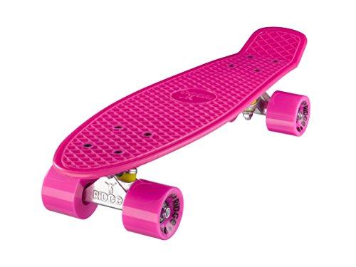 Ridge Skateboards 22 Mini Cruiser Skateboard, Rosa/Rosa