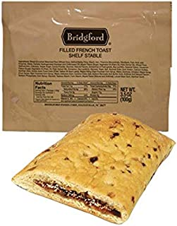 Filled French Toast MRE - Breakfast Snack Survival Food Ready to Eat Meals - 3 Pack
