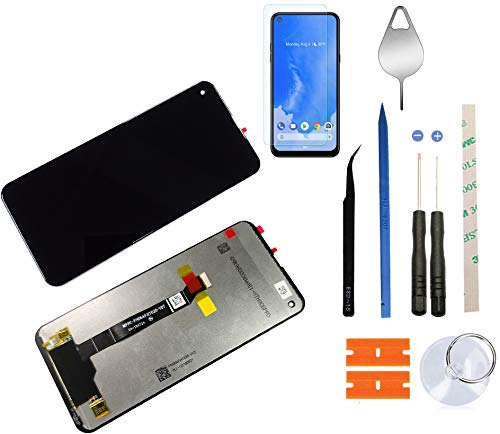 Eaglewireless Replacement LCD Screen Assembly with Touch Screen Digitizer for LG Q70 LM-Q620WA+Tempered Glass Protector