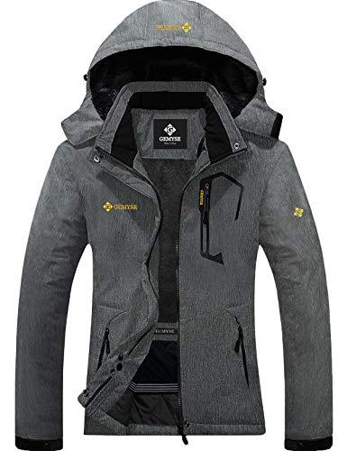 GEMYSE Women's Mountain Waterproof Ski Snow Jacket Winter Windproof Rain Jacket (Graphite Grey,Small)