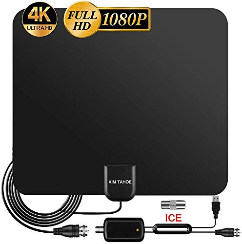 TV Aerial, 2020 Newest Indoor TV Aerial for Digital Freeview 4K 1080P HD VHF UHF...