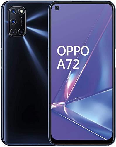 """OPPO A72 – Pantalla de 6.5"""" (FHD+, 4GB/128GB, Snapdragon 665, 5.000 mAh, cámara trasera 48MP+8MP+2MP+2MP, cámara frontal 16 MP, Android 10) Negro [Versión ES/PT]"""