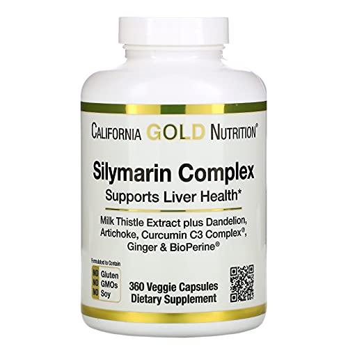 California Gold Nutrition Silymarin Complex, Liver...