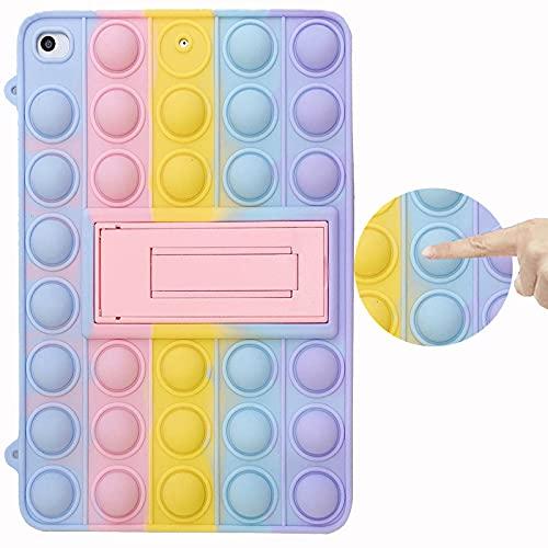 Capa ESSTORE para iPad Mini 3/2/1 (Não Cabe No iPad Mini 4), Push Bolha Estojo de Brinquedo Sensorial Fidget Alívio de Ansiedade e Estresse Capa com Suporte, Arco-íris