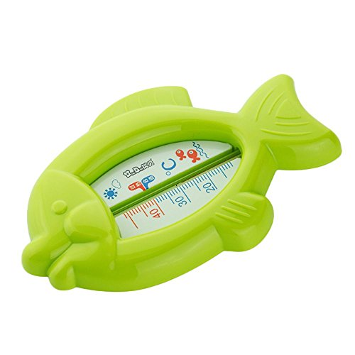 VANKER Bebé infantiles baño de la bañera de temperatura del agua Probador Juguete lindo pescado en forma de termómetro -- Verde