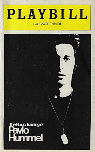 "Al Pacino""BASIC TRAINING OF PAVLO HUMMEL"" Brad Sullivan/David Rabe 1977 Broadway Opening Night Playbill"