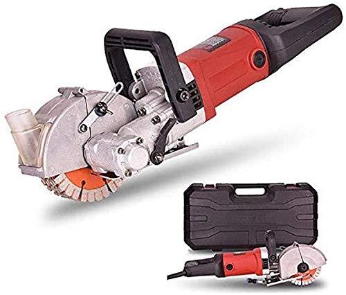 Rozadora de Pared, TOPQSC Máquina Ranuradora de Corte para Pared 125 mm, sierra de riel industrial 4000 W, corte de hormigón, 6500 rpm, con ranuras de profundidad máxima de 35 mm y ancho ajustable máx