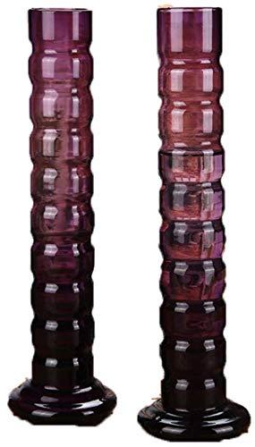 Wine Red hoge glazen vaas Set Flowers/Droge Bloem Bloem Arrangeur for Home/Office/Hotel Decoratie Ornamenten zonder bloemen