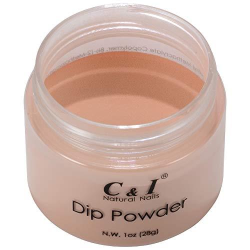 C & I Dip Powder Tauchen Pulver, Farbe # 27 Pfirsich, Gelnägel Effekt, Pulver für Nagellack, Gelb...