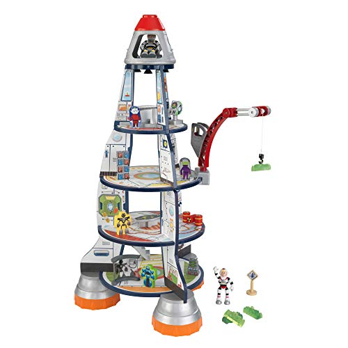 KidKraft 63443 Raketenschiff Spieleset aus Holz, Bunt, XL