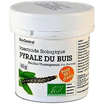 Insecticide au Bacillus Thuringiensis spécial pyrale du buis UAB 50 g