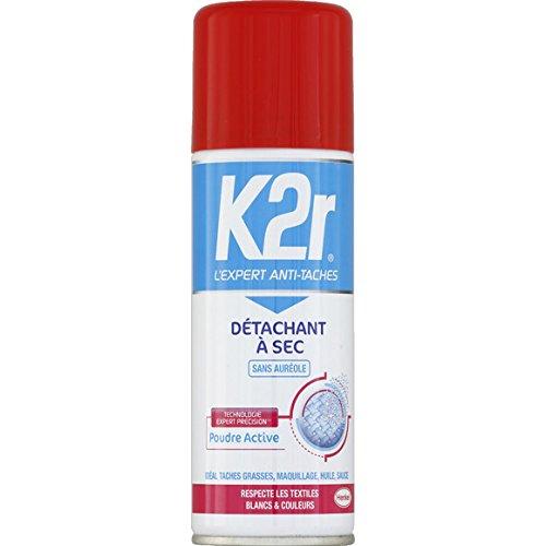 K2r - Détachant à sec tous textiles - Le spray de 200ml - (pour la quantité plus que 1 nous vous remboursons le port supplémentaire)