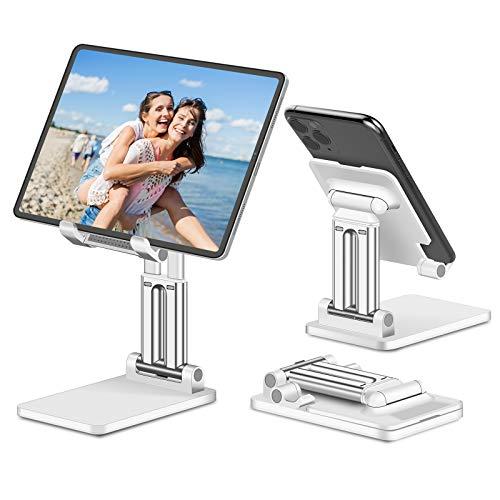 JPARR Tablet Halterung Desktop Handy Halterung, Universal Tragbarer Faltbarer Tablet Halter, Einstellbarer mit Mehreren Winkeln Tablet Ständer für Tablet/Handy/Switch/Kindle Usw Unter 12,9 Zoll